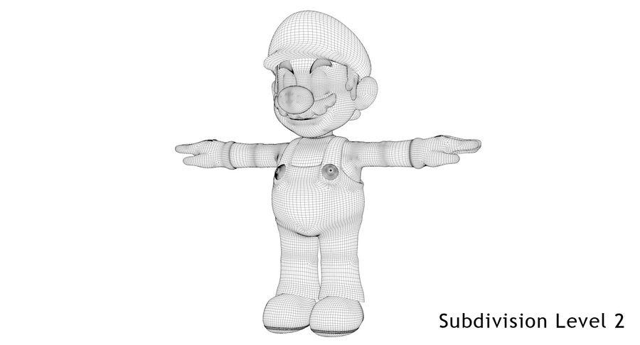 Mario royalty-free 3d model - Preview no. 18