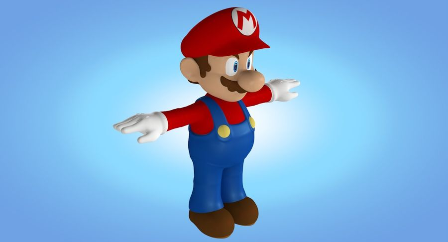 Mario royalty-free 3d model - Preview no. 4