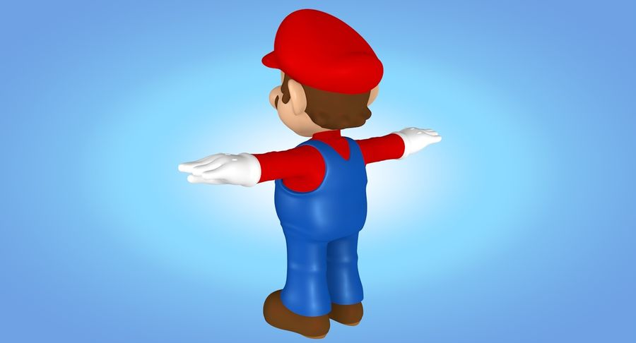 Mario royalty-free 3d model - Preview no. 9