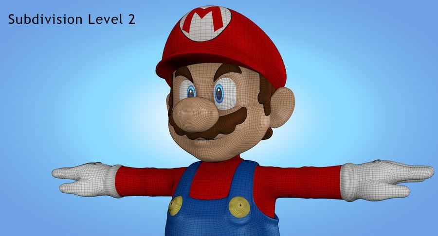 Mario royalty-free 3d model - Preview no. 30