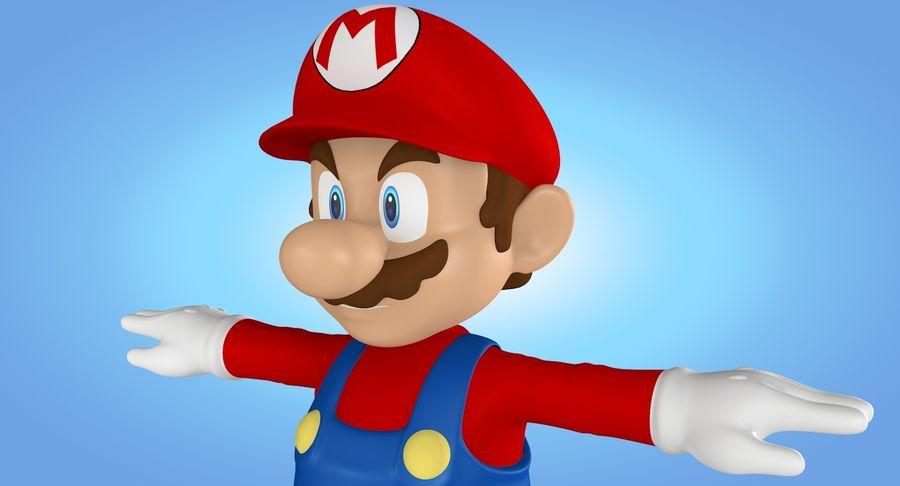 Mario royalty-free 3d model - Preview no. 15