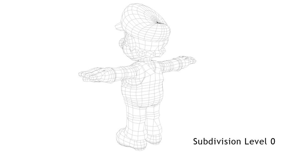 Mario royalty-free 3d model - Preview no. 13