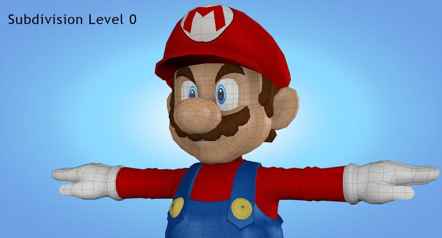 Mario royalty-free 3d model - Preview no. 28
