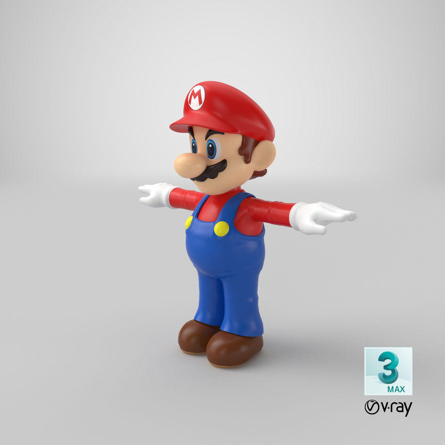 Mario royalty-free 3d model - Preview no. 25