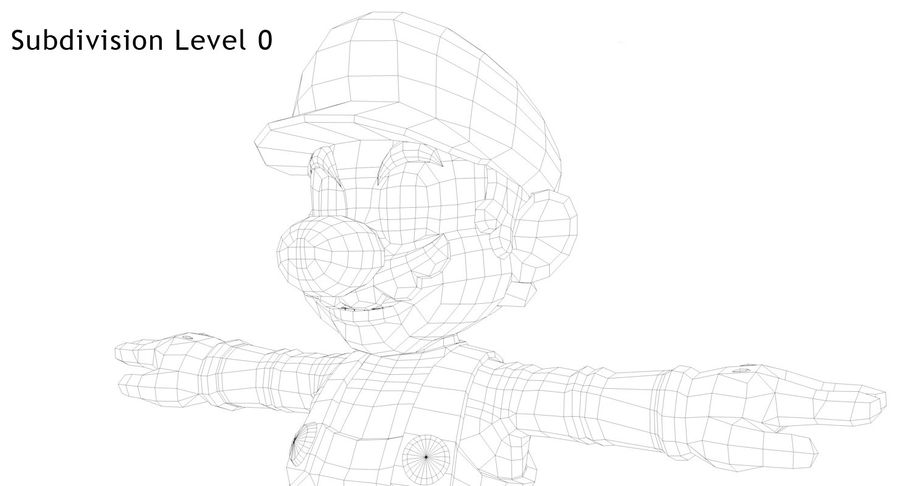 Mario royalty-free 3d model - Preview no. 15
