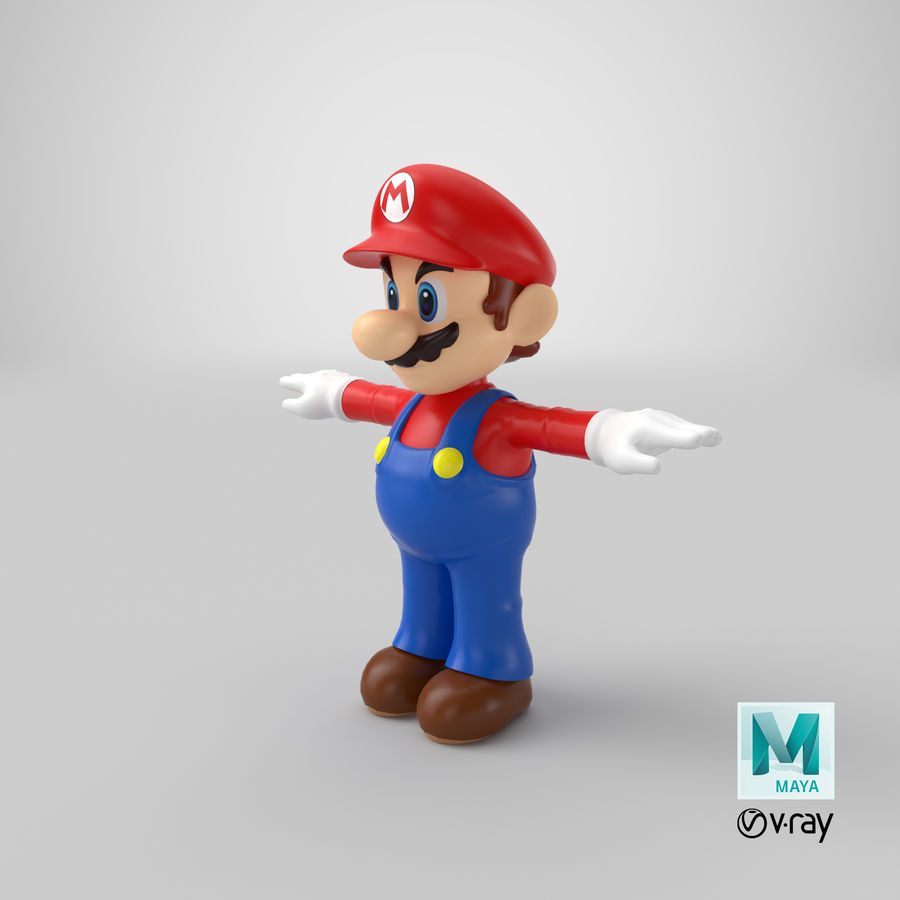 Mario royalty-free 3d model - Preview no. 23