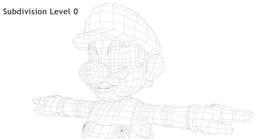 Mario royalty-free 3d model - Preview no. 24