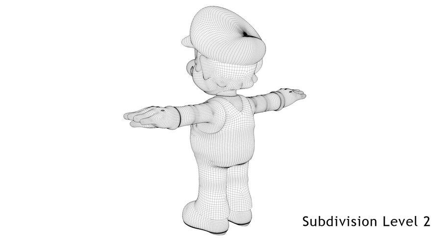 Mario royalty-free 3d model - Preview no. 22