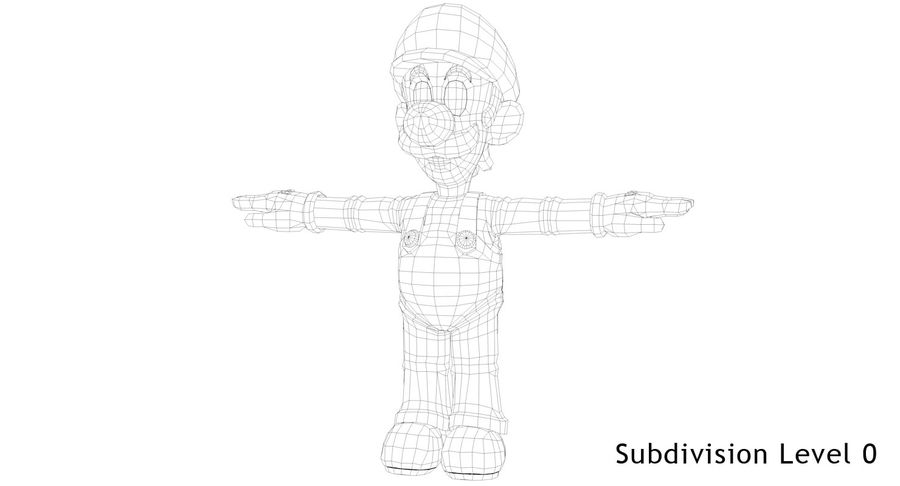 Luigi royalty-free 3d model - Preview no. 9