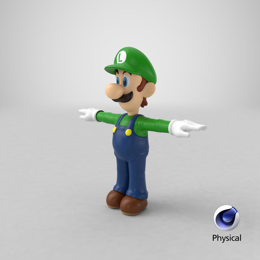 Luigi royalty-free 3d model - Preview no. 27