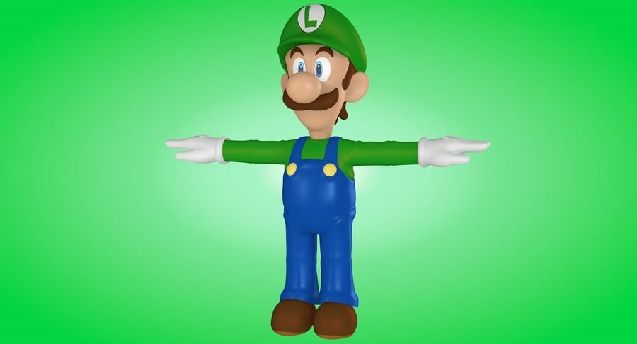 Luigi royalty-free 3d model - Preview no. 3