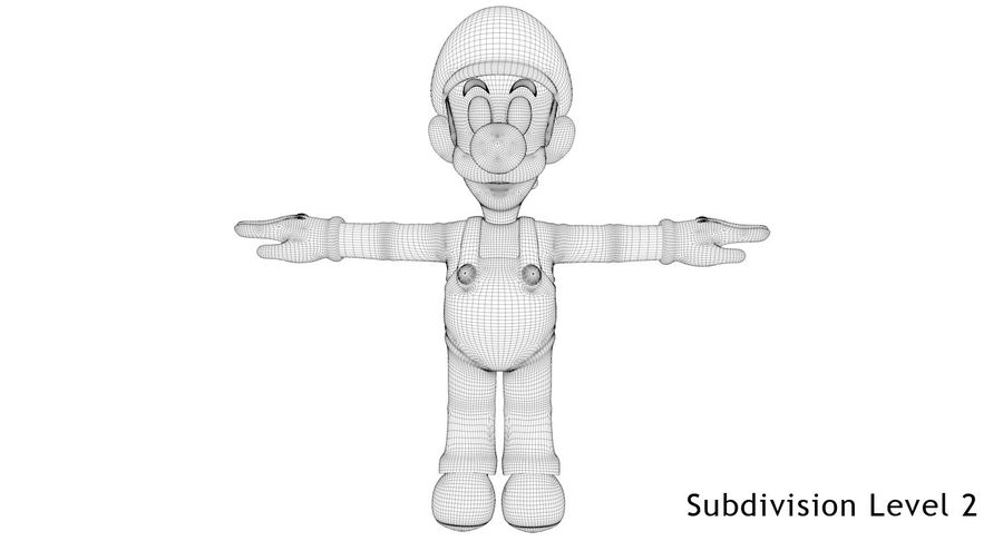 Luigi royalty-free 3d model - Preview no. 16