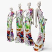 Kadın manken elbise (1) 3d model
