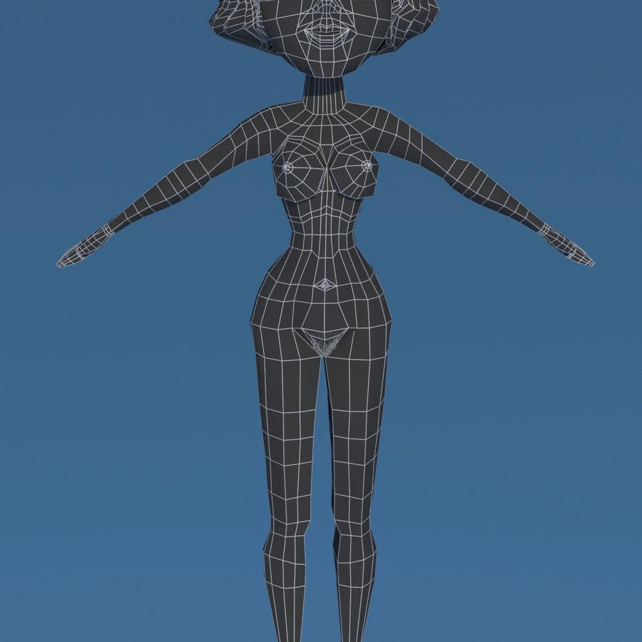 Сексуальная женщина royalty-free 3d model - Preview no. 11