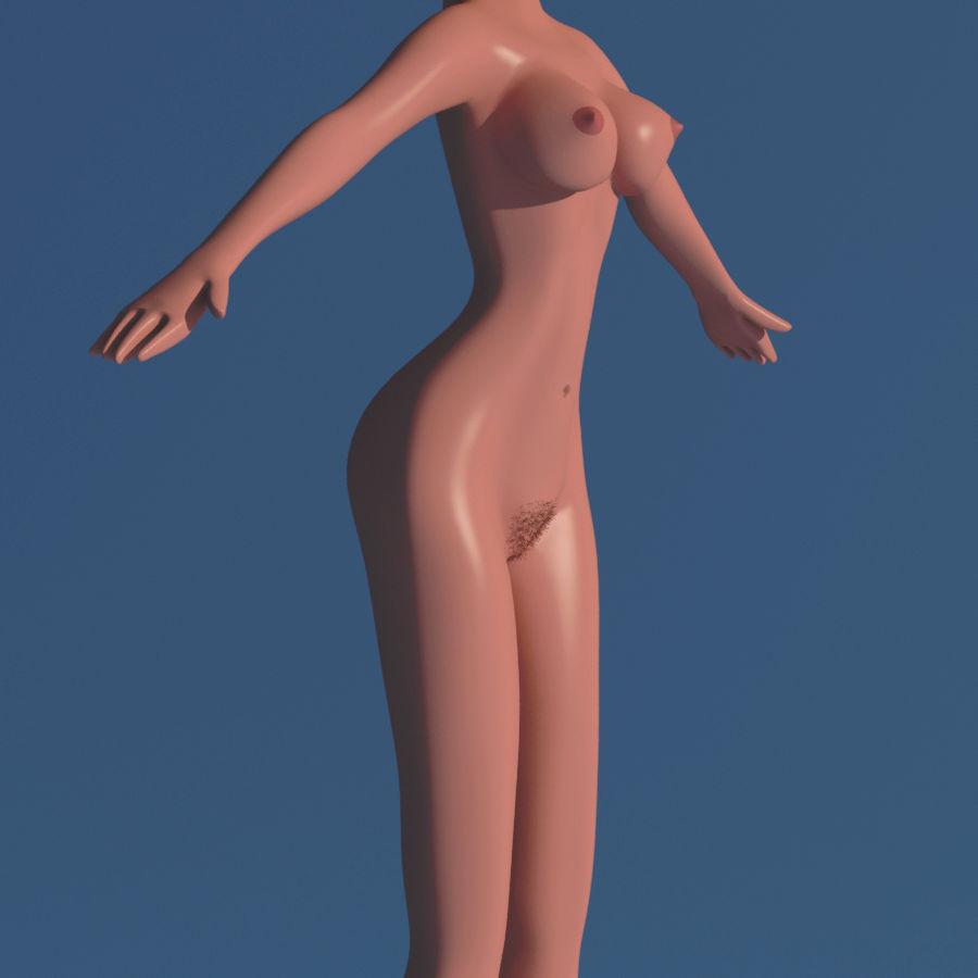 Сексуальная женщина royalty-free 3d model - Preview no. 9