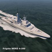 Фрегат МЕКО А-200 3d model