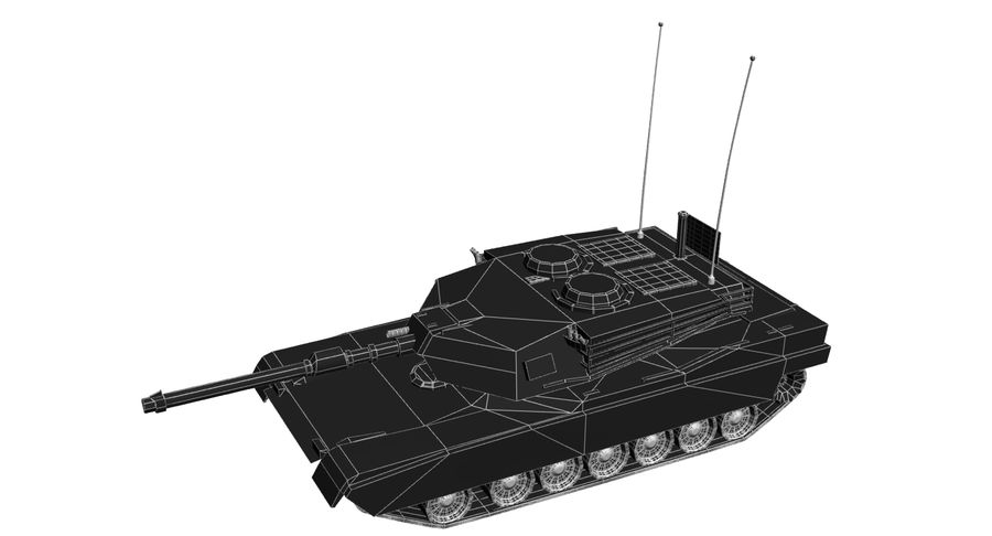 M1 Abrams Tank royalty-free 3d model - Preview no. 13