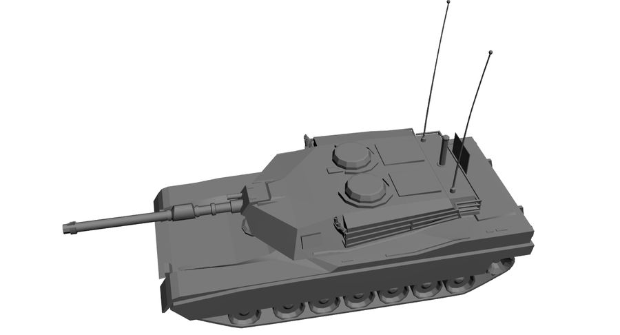 M1 Abrams Tank royalty-free 3d model - Preview no. 8