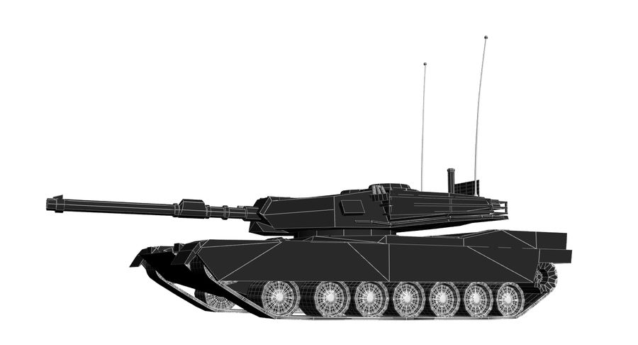 M1 Abrams Tank royalty-free 3d model - Preview no. 12