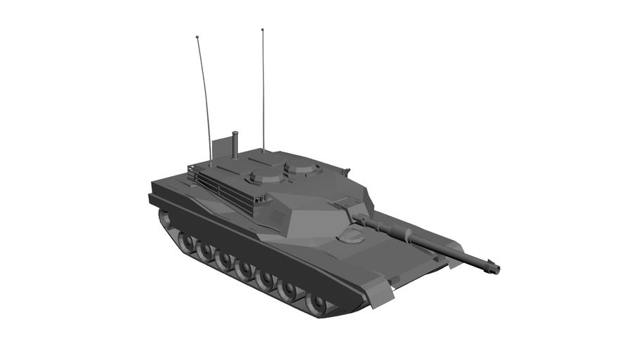 M1 Abrams Tank royalty-free 3d model - Preview no. 10