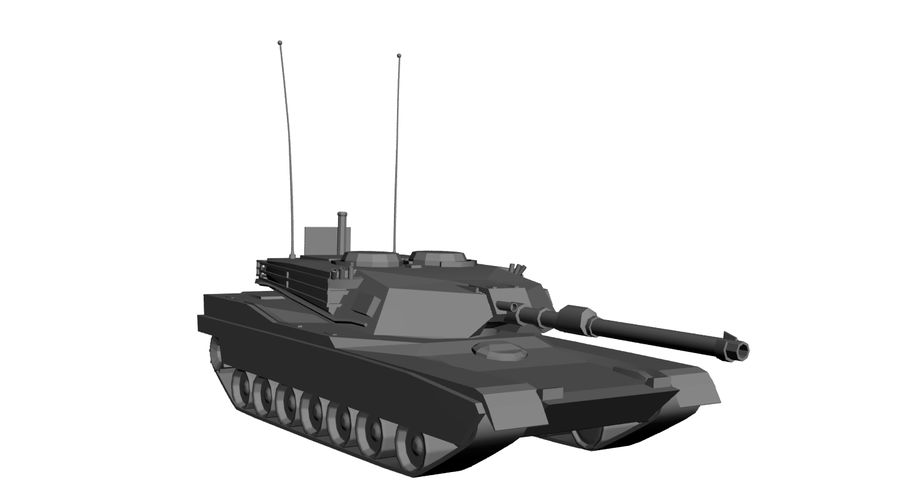 M1 Abrams Tank royalty-free 3d model - Preview no. 11
