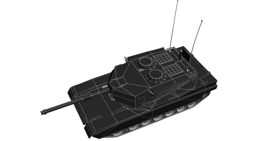 M1 Abrams Tank royalty-free 3d model - Preview no. 14