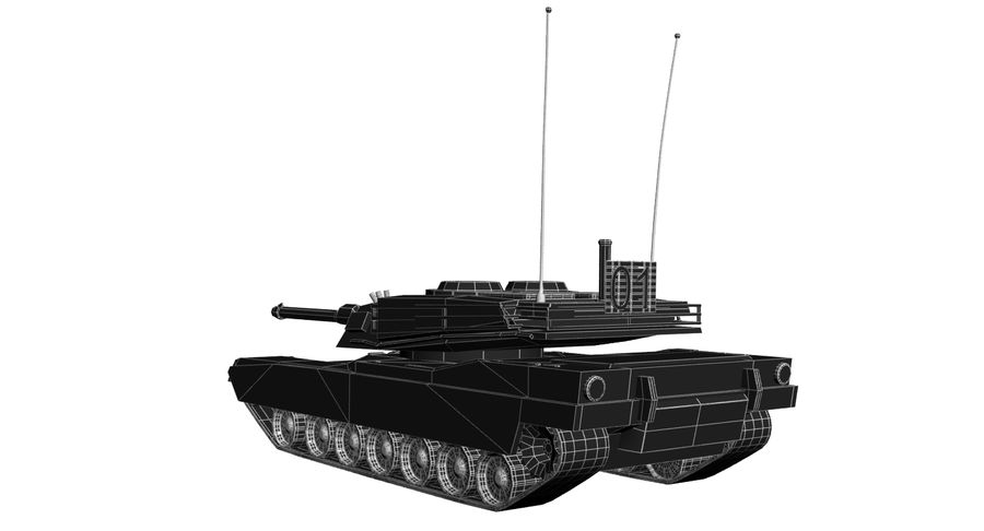 M1 Abrams Tank royalty-free 3d model - Preview no. 15