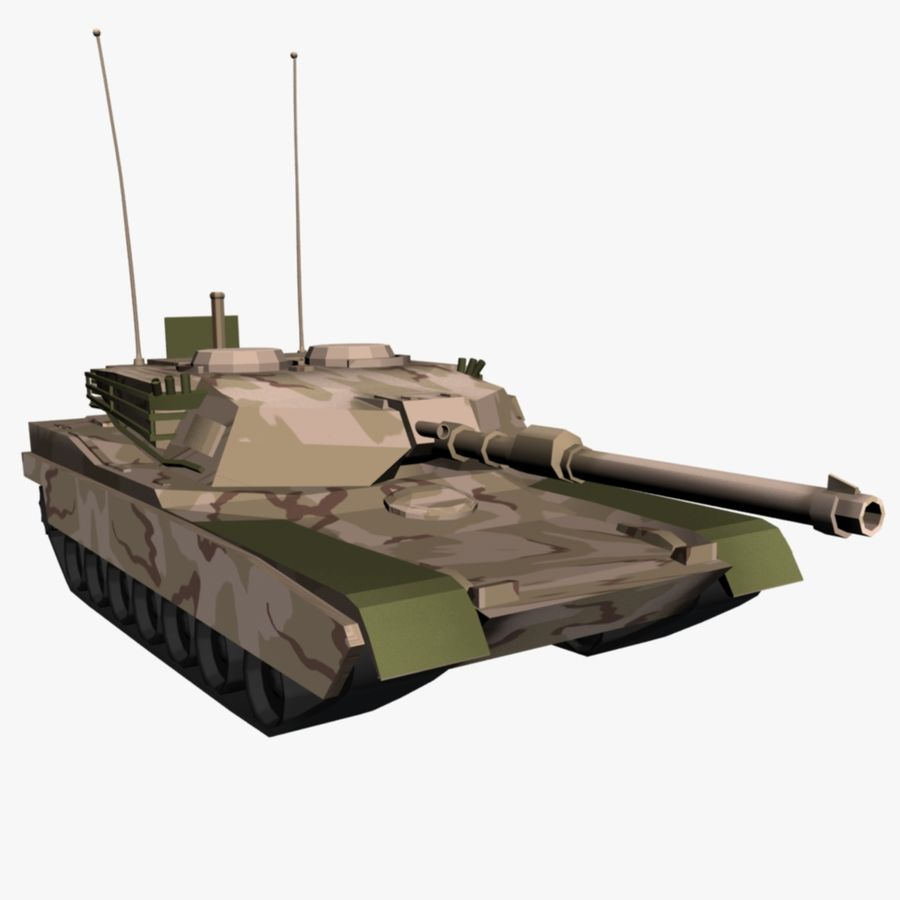 M1 Abrams Tank royalty-free 3d model - Preview no. 1