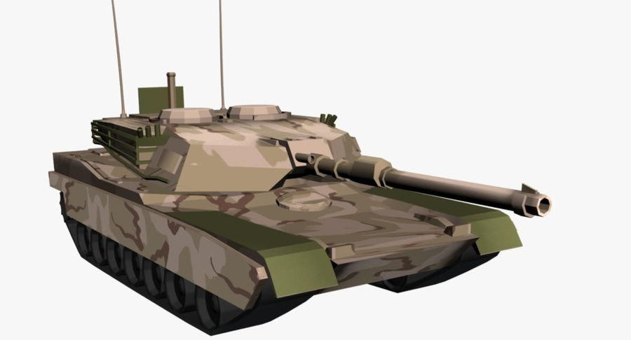 M1 Abrams Tank royalty-free 3d model - Preview no. 3