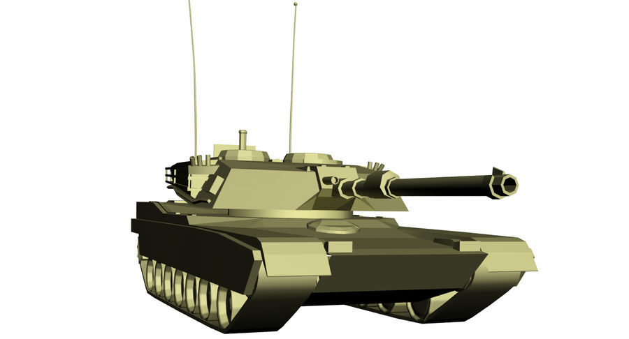 M1 Abrams Tank royalty-free 3d model - Preview no. 6