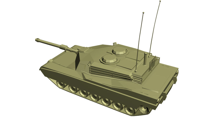 M1 Abrams Tank royalty-free 3d model - Preview no. 7