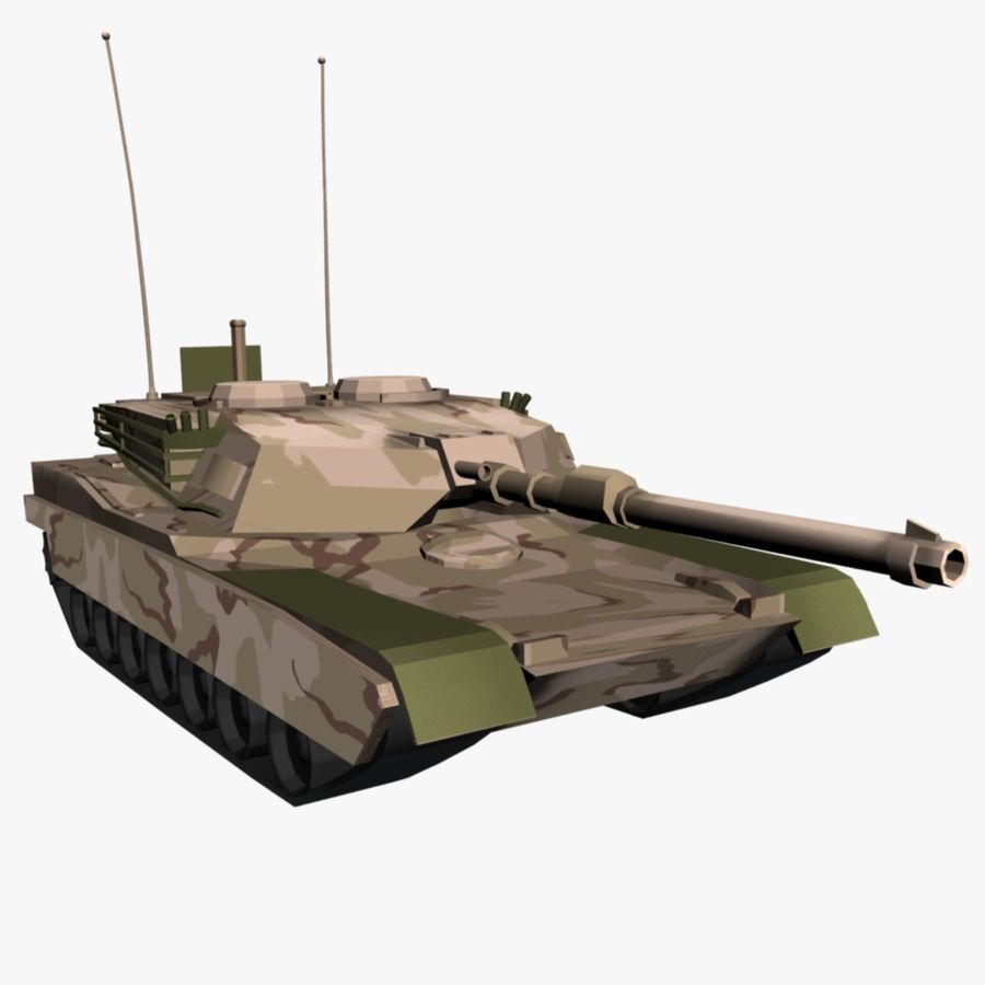 M1 Abrams Tank royalty-free 3d model - Preview no. 2