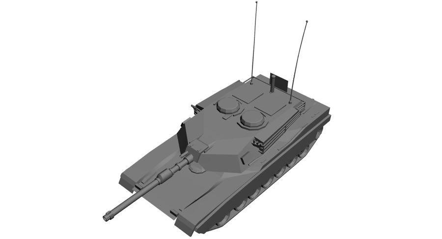 M1 Abrams Tank royalty-free 3d model - Preview no. 9