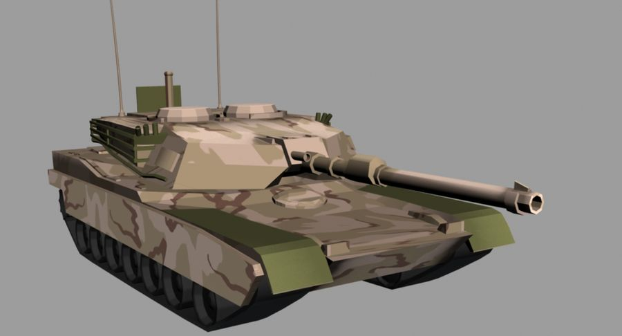 M1 Abrams Tank royalty-free 3d model - Preview no. 4