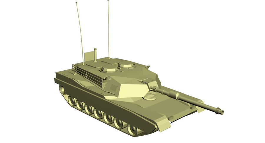 M1 Abrams Tank royalty-free 3d model - Preview no. 5