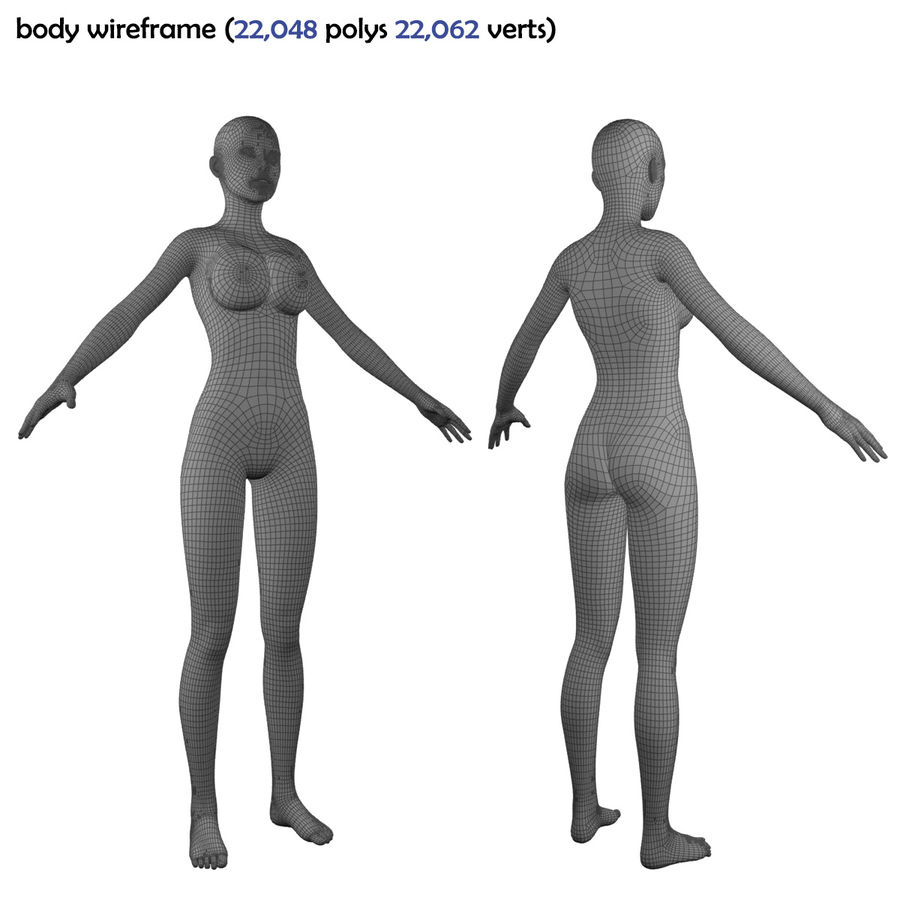 Fitness Model A2 royalty-free 3d model - Preview no. 75