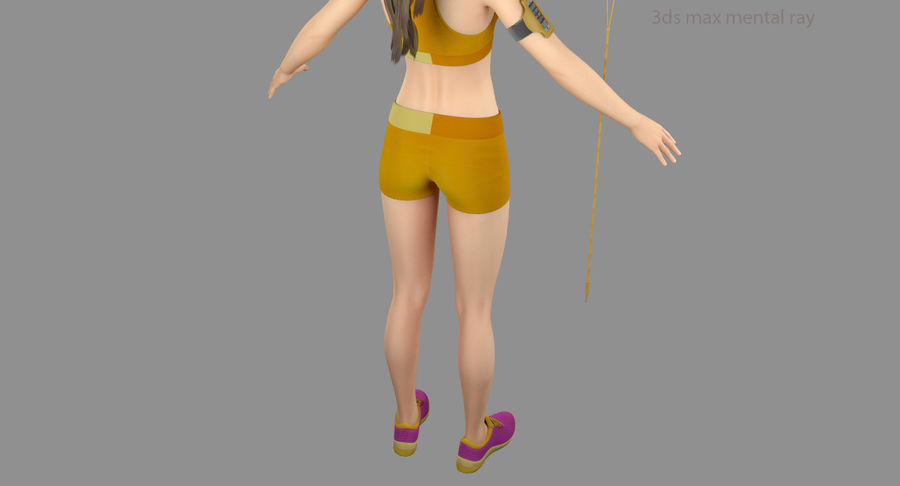 Fitness Model A2 royalty-free 3d model - Preview no. 55