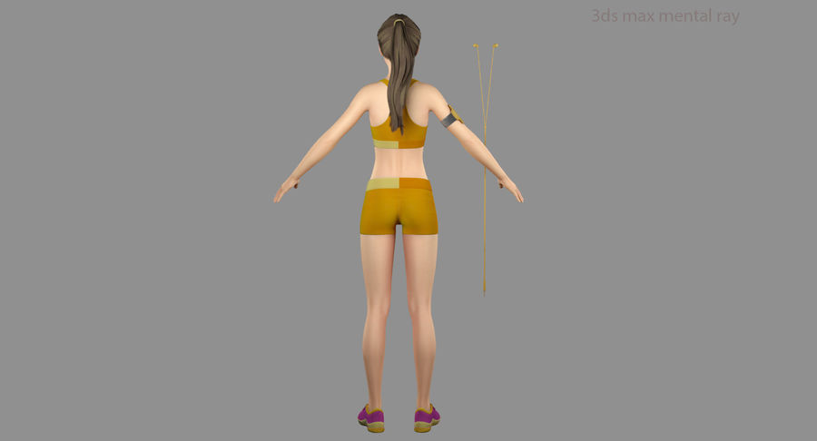 Fitness Model A2 royalty-free 3d model - Preview no. 43