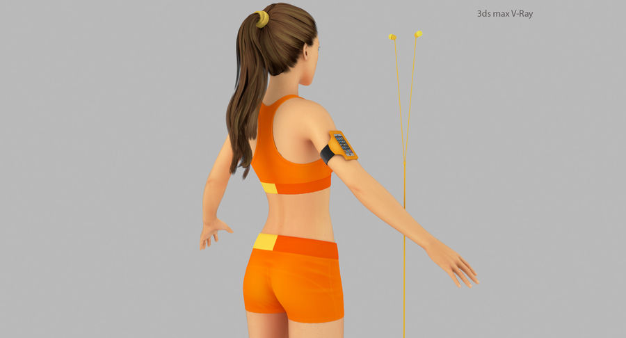 Fitness Model A2 royalty-free 3d model - Preview no. 10