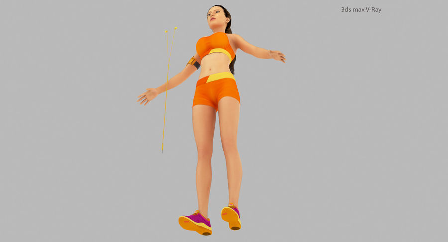 Fitness Model A2 royalty-free 3d model - Preview no. 12