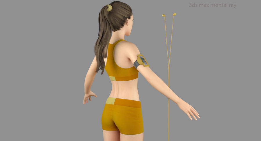 Fitness Model A2 royalty-free 3d model - Preview no. 45
