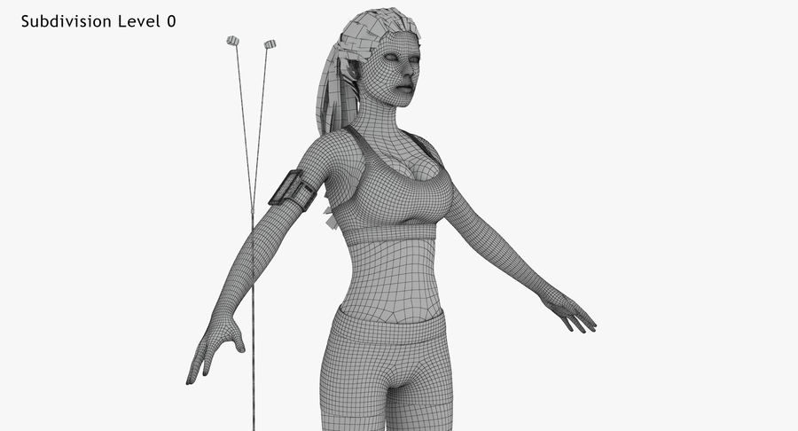 Fitness Model A2 royalty-free 3d model - Preview no. 65