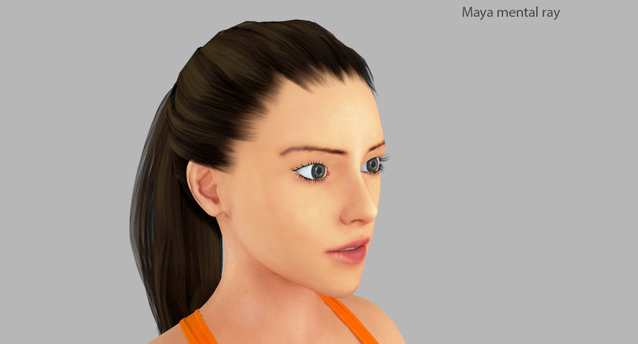 Fitness Model A2 royalty-free 3d model - Preview no. 38