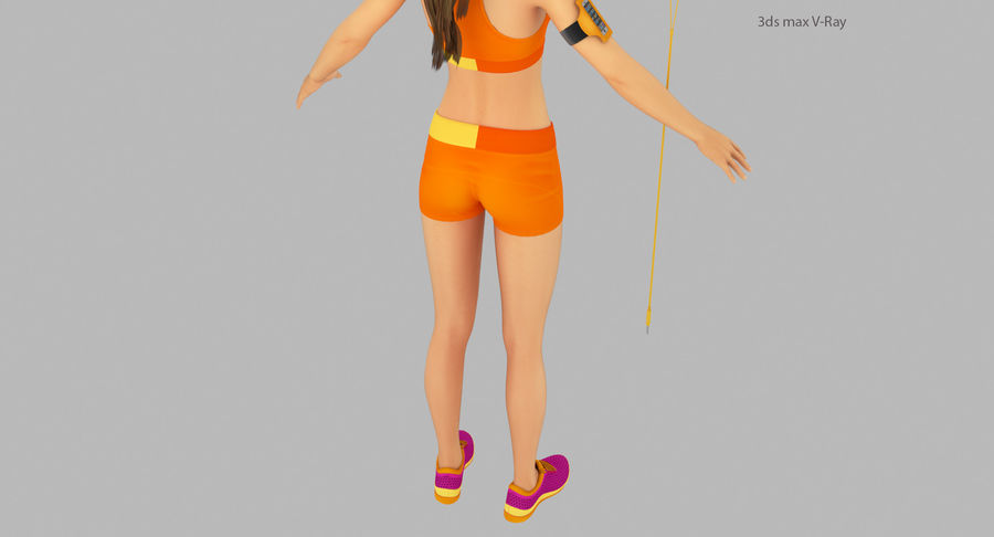 Fitness Model A2 royalty-free 3d model - Preview no. 22