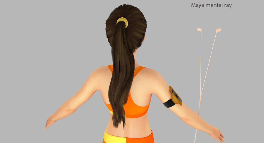 Fitness Model A2 royalty-free 3d model - Preview no. 23