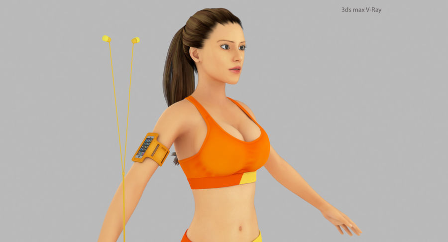 Fitness Model A2 royalty-free 3d model - Preview no. 9