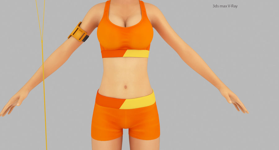 Fitness Model A2 royalty-free 3d model - Preview no. 14