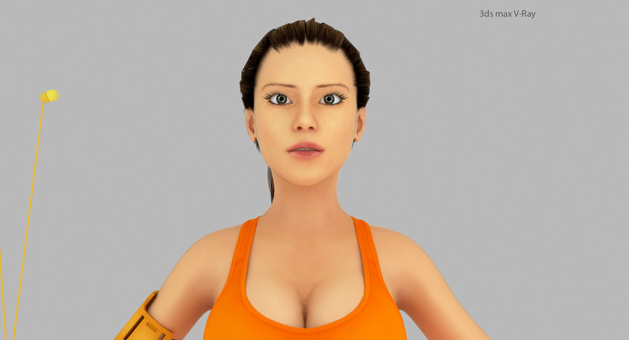 Fitness Model A2 royalty-free 3d model - Preview no. 13
