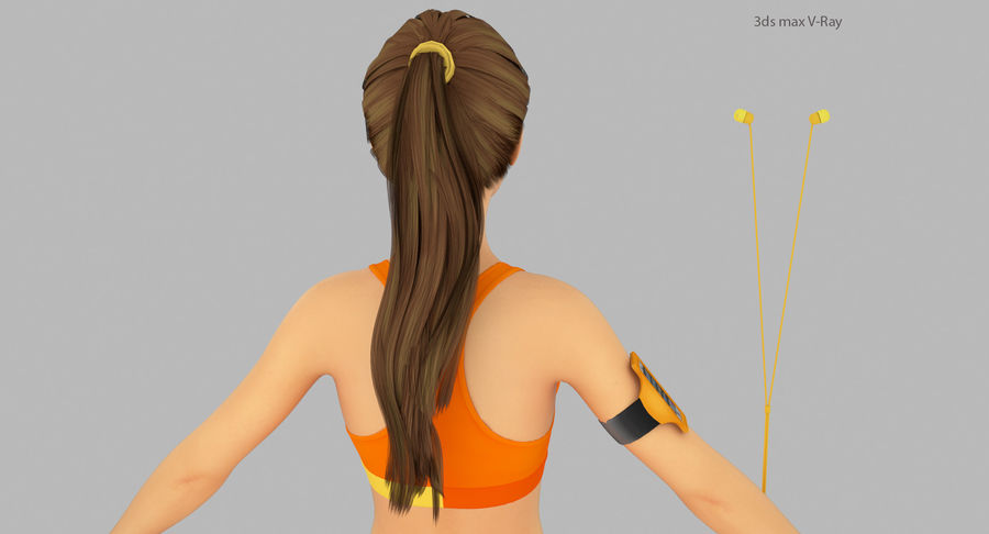 Fitness Model A2 royalty-free 3d model - Preview no. 20