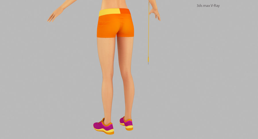 Fitness Model A2 royalty-free 3d model - Preview no. 21